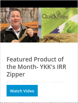 OK彩票Featured Product of the Month- YKK's IRR Zipper