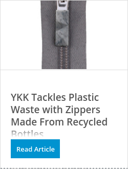 OK彩票YKK Tackles Plastic Waste with Zippers Made From Recycled Bottles