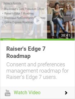 Raiser's Edge 7 Roadmap