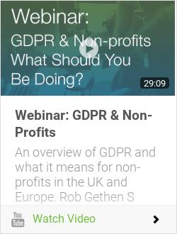 Webinar: GDPR & Non-Profits