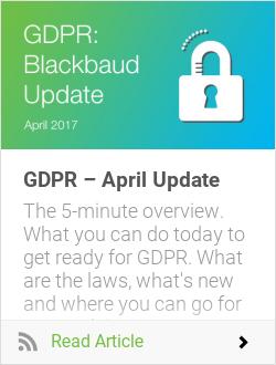GDPR – April Update