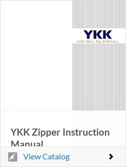 OK彩票YKK Zipper Instruction Manual