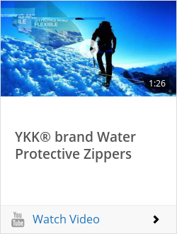 YKK® brand Water Protective Zippers