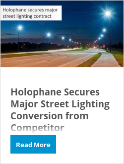 Holophane Secures Major Street Lighting Conversion from Competitor