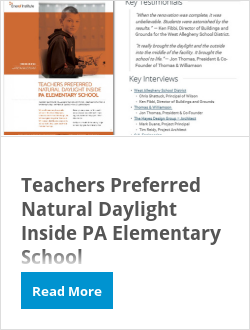 Teachers Preferred Natural Daylight Inside PA Elementary School