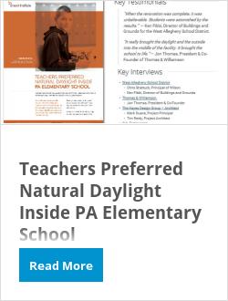 Teachers Preferred Natural Daylight Inside PA Elementary School