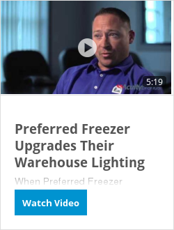 Preferred Freezer Upgrades Their Warehouse Lighting