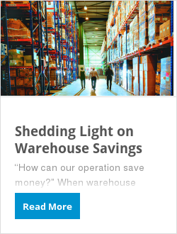 Shedding Light on Warehouse Savings