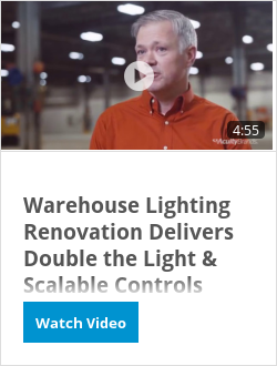 Warehouse Lighting Renovation Delivers Double the Light & Scalable Controls [Video]
