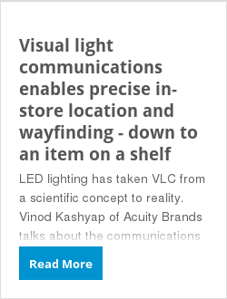 Visual light communications enables precise in-store location and wayfinding - down to an item on a shelf