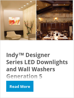 Indy™ Designer Series LED Downlights and Wall Washers Generation 5