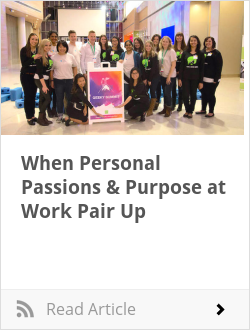 When Personal Passions & Purpose at Work Pair Up