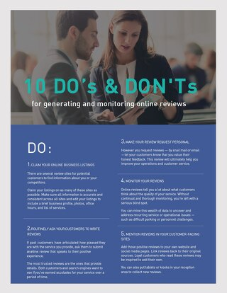 10 Do's and Don'ts for Generating and Monitoring Online Reviews