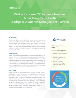 Walker Increases CX Summit's Net-New Attendance 74% with Leadspace Platform
