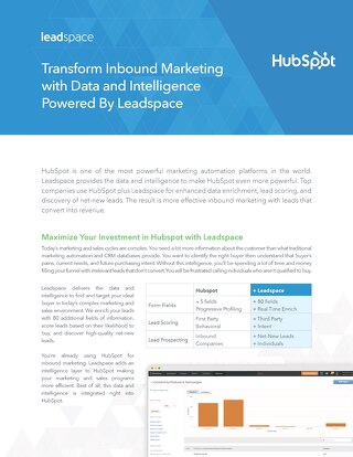 Leadspace for Hubspot