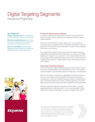 Insurance Propensity Digital Targeting Segments