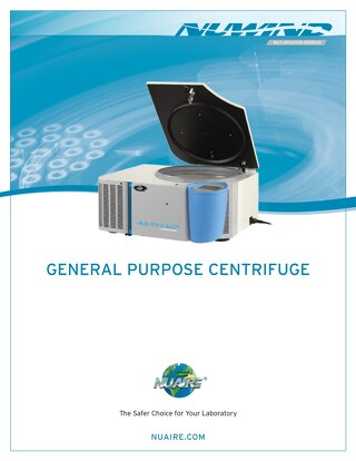 NuWind Bench Top Centrifuges Brochure