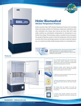[Flyer] Haier Ultralow Freezer Flyer