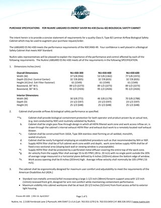 [Spec] NU-430 Specification (115V)
