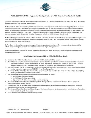 [Spec] NU-201 Specification (115V)