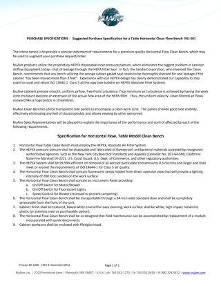 [Spec] NU-301 Specification (115V)