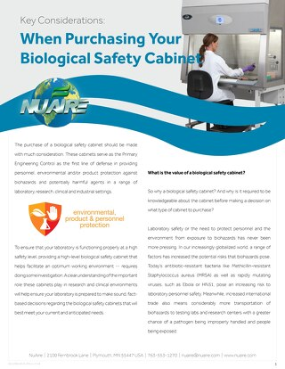 [White Paper] Biosafety Cabinet Buying Guide