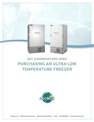 Ultralow Freezer Buying Guide
