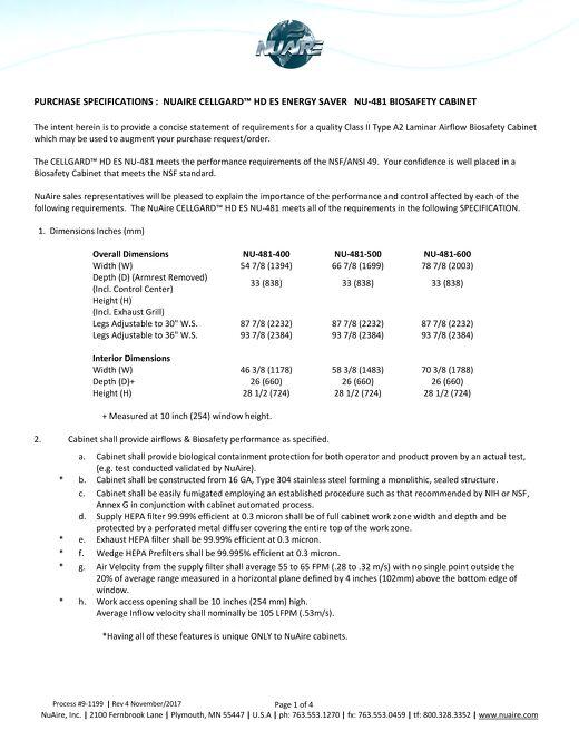 [Spec] NU-481 Specification (115V)
