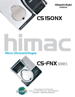 [Brochure] Hitachi FNX Micro Ultracentrifuge