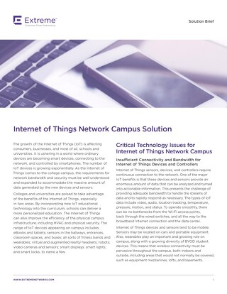 Internet of Things Network Campus Solution