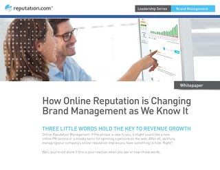 How Online Reputation is Changing Brand Management as We Know It
