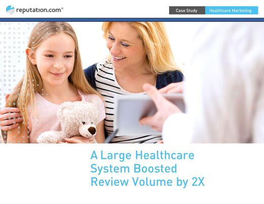 Large Healthcare System Increases Reputation Score by 50%