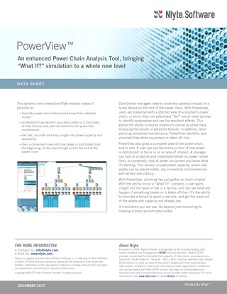 Nlyte PowerView™ Data Sheet