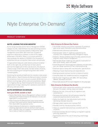 Nlyte Enterprise On-Demand