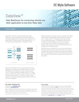 Nlyte DataView™ Data Sheet