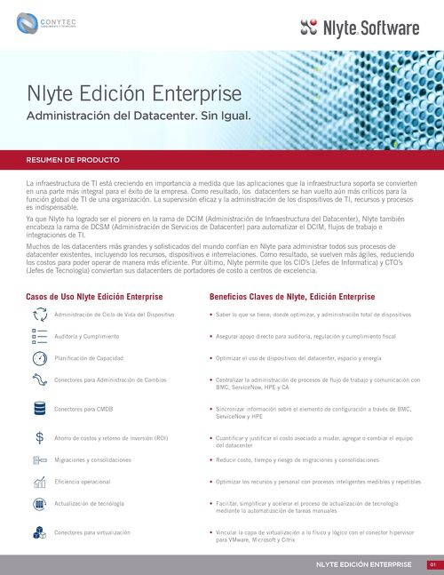 Nlyte Enterprise Edition Spanish Version