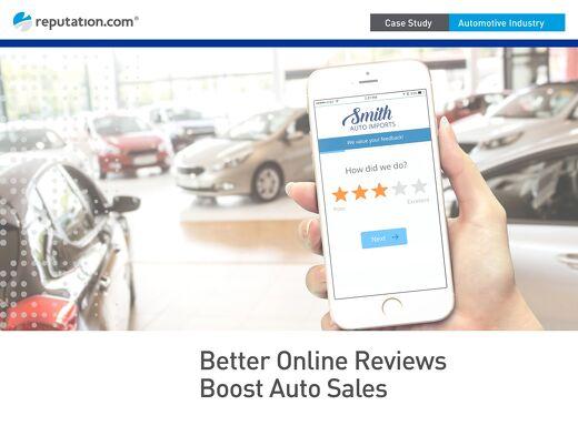 Big Three Automotive Case Study: Better Online Reviews Boost Sales