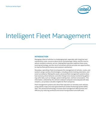 Intelligent Fleet Management With Intel Atom® E3827