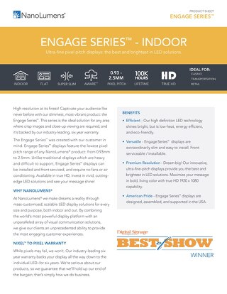 Engage Series™ Spec Sheet