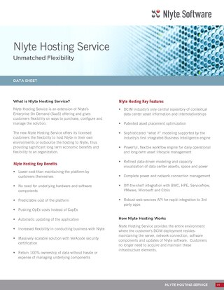 Nlyte Hosting Data Sheet