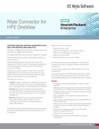 Nlyte HPE OneView Data Sheet