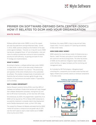 Nlyte Primer On Software Defined Data Center SDDC