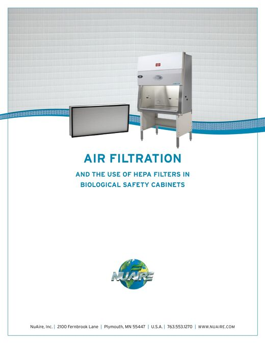 [White Paper] Use of HEPA Filters