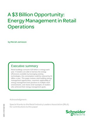 A $3 Billion Opportunity Energy Management in Retail Operations