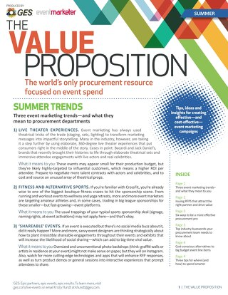 The Value Proposition: Summer Edition