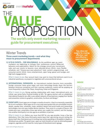 The Value Proposition: Winter Edition