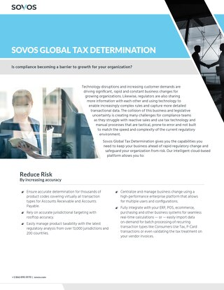 Sovos SUT Determination