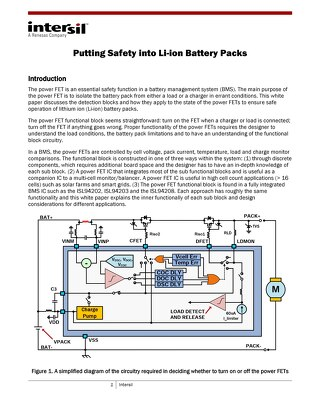 Making Li-ion Battery Packs Safer