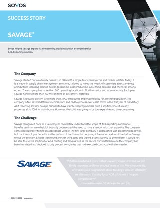 Sovos Success Story: Savage