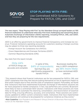 Sovos AEOI Industry Report